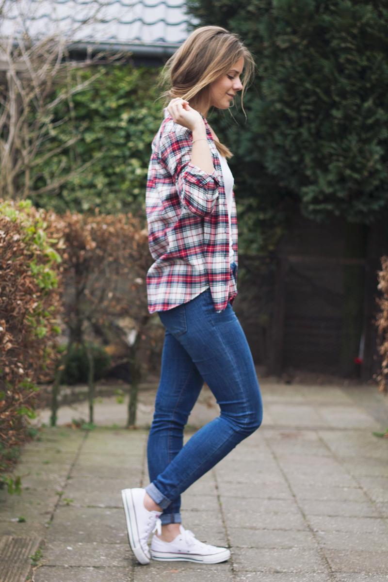 Plaid-blouse-geruit-jeans-1