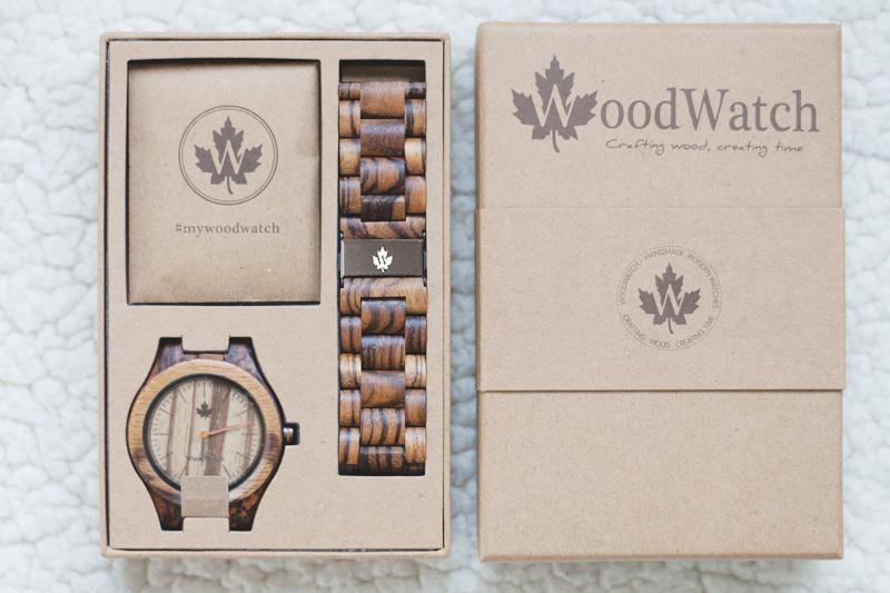 Wood watch zebra