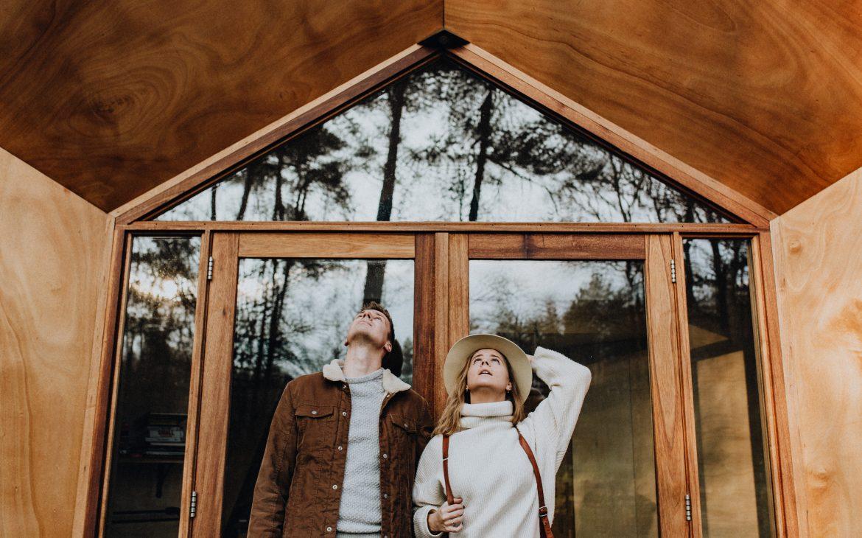 Fotoshoot bij een Tiny House